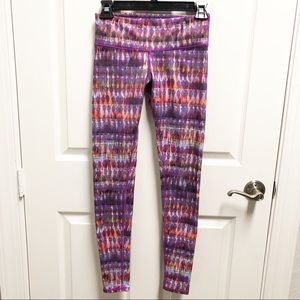 ALO YOGA Pink Purple Tie Dye Pattern Leggings XS